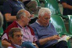 Hans-Gerd Wernicke (rechts) und Trainer Wolfgang Figge bei der BBAG-Jährlings-Auktion 2010. www.dequia.de