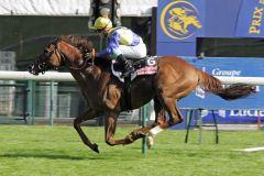 Toylsome gewinnt mit Stephane Pasquier den Prix de la Foret Casino Barriere de Biarritz. www.galoppfoto.de
