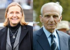 Christiane Weil-Dassbach und ihr Vater Heinz Weil, Gründer des Gestüt Etzeans. www.galoppfoto.de
