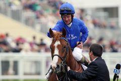 Dawn Approach mit Kevin Manning nach dem Erfolg in den  St James's Palace Stakes. www.galoppfoto.de - Frank Sorge