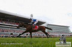 Ein historischer Sieg - Protectionist gewinnt als erstes deutsches Pferd mit Ryan Moore den Melbourne-Cup. Foto Getty Images - Robert Cianflone