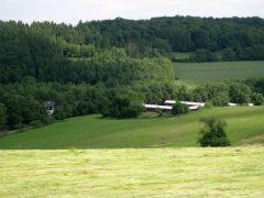 Das Gestüt Ohlerweiherhof aus der Vogelperspektive. Foto: Gestüt Ohlerweiherhof
