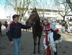 Siegerin Santillana mit Jockey Daniele Porcu. Foto Gabriele Suhr