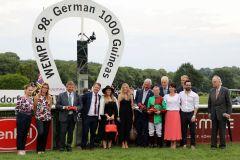 Nyaleti gewinnt die German 1000 Guineas. Foto: Dr. Jens Fuchs