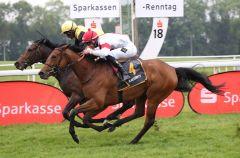 Realeza (verdeckt) gewinnt knapp gegen Area. Foto: Dr. Jens Fuchs