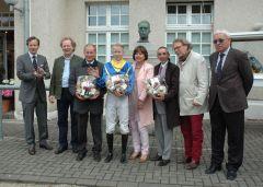 Siegerehrung mit G. Apelt, Filip Minarik, Jean-Pierre Carvalho. Foto Gabriele Suhr