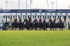 Start zum Longines Hong Kong Cup 2012. www.galoppfoto.de - Frank Sorge