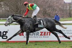The Tiger gewinnt mit Sibylle Vogt das nach ihm benannte The Tiger-Rennen. www.galoppfoto.de - Stephanie Gruttmann