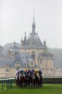 Was für eine Kulisse ... die Rennbahn in Chantilly. www.galoppfoto.de - Frank Sorge