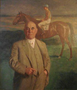 13 - Paul Niemoeller auf einem Ölbild