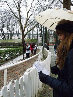 Am Führring: Sabrina versucht, die Pferde zu identifizieren. Karina Strübbe