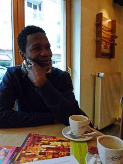 Eddie Pedroza beim Turf-Times Interview. Foto Karina Strübbe