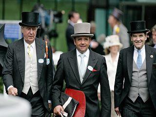 In Royal Ascot: Albert Darboven, Trainer Andreas Wöhler und Eugen-Andreas Wahler vor dem Start von Mi Emma 2007. Foto: www.galoppfoto.de