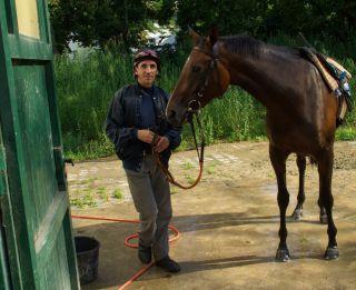 2011-08.26 Jean-Pierre Carvalho in seinem Frankfurter Trainingsstall. www.dequia.de